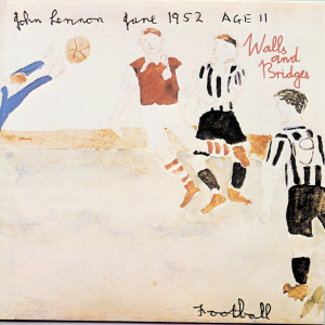Drawing by John Lennon for the front cover of Walls and bridges