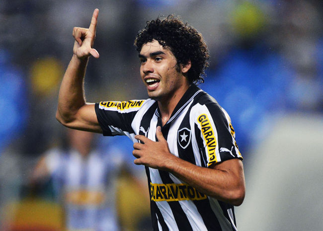 Bruno Mendes of Botafogo celebrates