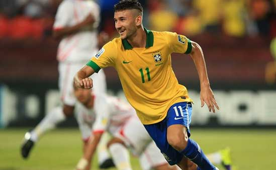 Boschilia scored two and assisted one goal in Brazil's 6-1 win over the UAE.