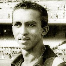 The round face of Garrincha's Botafogo team-mate - Quarentinha