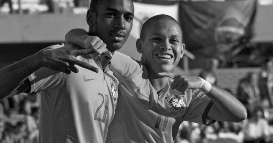 Gerson (left) and Marcos Guilherme were amongst the stand-out players in a poor tournament for Brazil u20s.