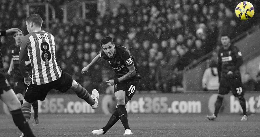 Philippe Coutinho scores v Southampton