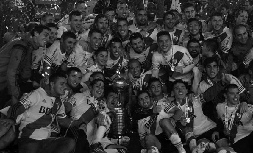 River Plate celebrate their 2015 Copa Libertadores win.