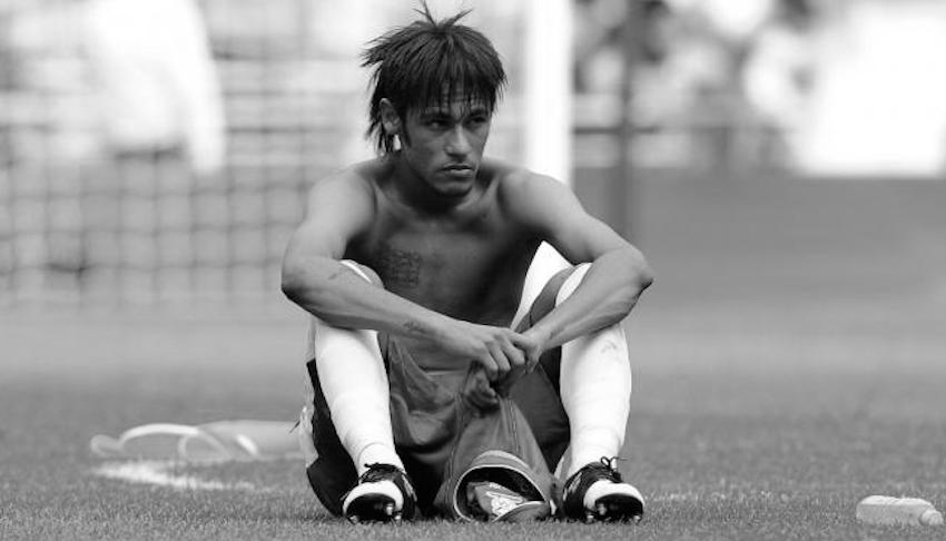 Neymar at the 2012 London Olympics, where Brazil were beaten in the final by Mexico.