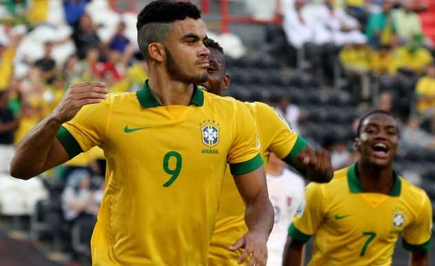 Mosquito scored a hat-tack in Brazil U17's 6-1 win over Slovakia