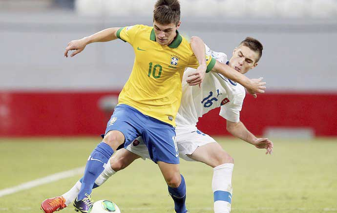 Nathan was the star of the show yet again for Brazil U17s
