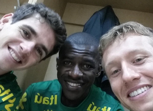 Oscar, Ramires, and Lucas could team up in Brazil's midfield against South Korea or Zambia.