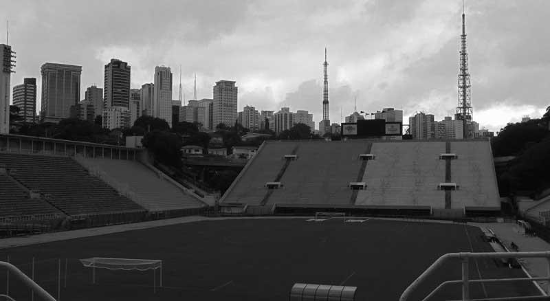 Pacaembu Stadium, São Paulo. The temporary home of Palmeiras prior to their move across town to the shiny new, and expensive, Allianz Parque
